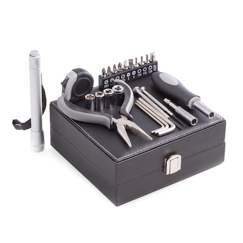 25-piece Tool Set With Black Leatherette Case