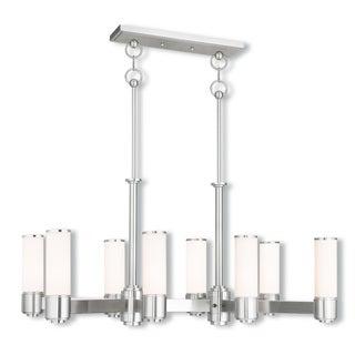 Livex Lighting Weston 8-light Brushed Nickel Linear Chandelier