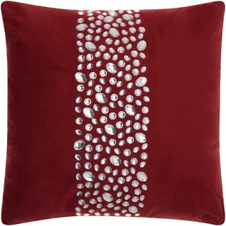 Mina Victory Luminescence Center Stones Burgundy Throw Pillow by Nourison (20 x 20-inch)
