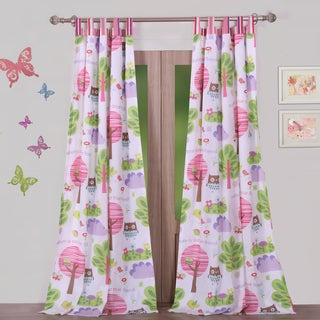 Woodland Girl Window Curtain Panel Pair