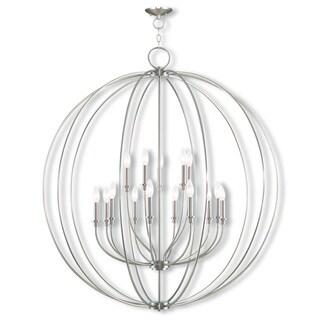 Livex Light Milania Silver Steel 15-light Foyer Chandelier