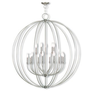 Livex Light Milania Silver Steel 15-light Foyer Chandelier