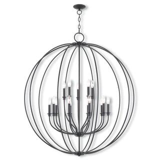Livex Lighting Milania Bronze Steel 15-light Foyer Chandelier