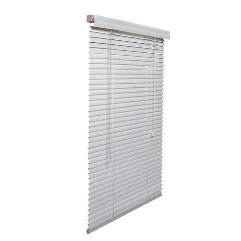 White 1-inch Aluminum Blinds 61 to 70-inch wide