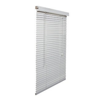 White Aluminum 61-inch- to 70-inch-wide 1-inch Blind
