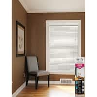 White 2-inch Faux Wood Blinds 40 to 48-inch wide