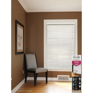 White 2-inch Faux Wood Blinds 31 to 39-inch Wide