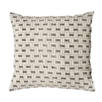 Mina Victory Luminescence Beaded Buckles Pewter/Silver Throw Pillow by Nourison (20-Inch X 20-Inch)