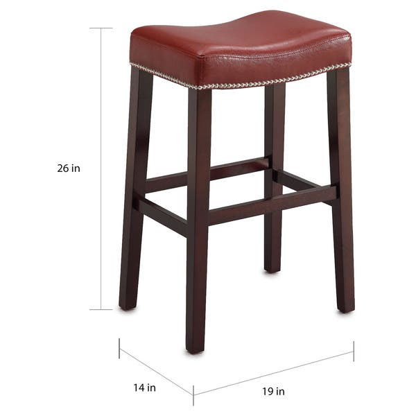 Enjoyable Lewis Red Pu Counter Height Stool With Espresso Base Set Of 2 Theyellowbook Wood Chair Design Ideas Theyellowbookinfo