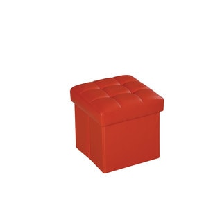 Kori Red PU Ottoman with Storage