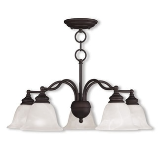 Livex Lighting Essex 5-light Convertible Bronze Dinette Chandelier/Ceiling Mount Light