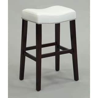 Shop 24 Inch Backless Counter High Stool In Genuine