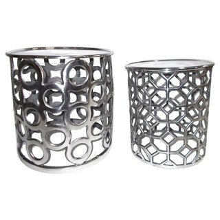 Silver Aluminum Tables (Set of 2)