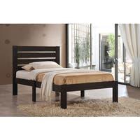 Kenney Espresso Poplar Wood Queen Bed