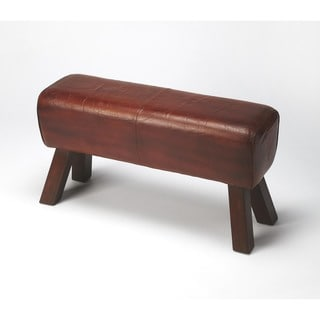 Butler Masterson Brown Leather Bench
