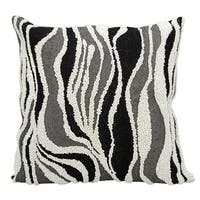 Mina Victory Luminescence Beaded Zebra Black/Silver Throw Pillow by Nourison (18-Inch X 18-Inch)