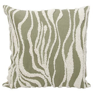 Mina Victory Luminescence Beaded Zebra Grey Throw Pillow by Nourison (18 x 18-inch)