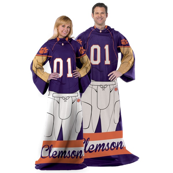 COL 024 Clemson Official Collegiate Comfy Throw