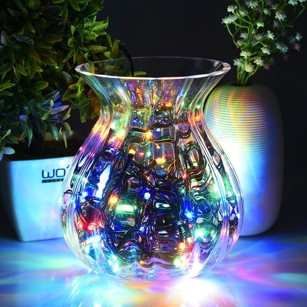 Solar 100 led string lights outdoor waterproof multicolor decorative light for home party xmas