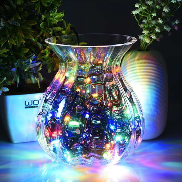 Decorative Outdoor Lighting: Solar 100 LED String Lights Outdoor Waterproof Multicolor