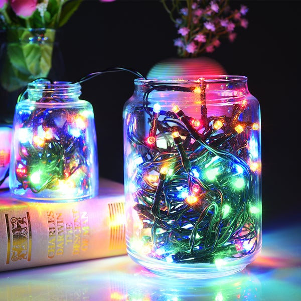 Solar 100 LED String Lights Outdoor Waterproof Multicolor Decorative Light for Home/ Party/ XMas ...