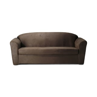 CoverWorks Stretch Leather 2-piece Sofa Slipcover