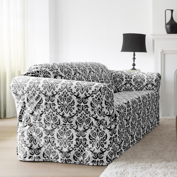CoverWorks Chelsea 1-piece Relaxed Fit Sofa Slipcover ...