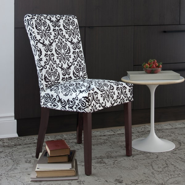 Shop CoverWorks Chelsea Black Floral 1-piece Parson Chair