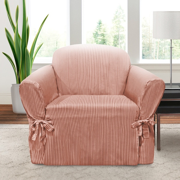 Shop Coverworks Muskoka Striped 1 Piece Relaxed Fit Chair Slipcover Free Shipping