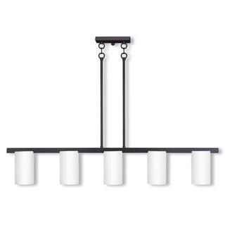 Livex Lighting Astoria Bronze Steel 5-light Linear Chandelier