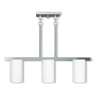 Livex Lighting Astoria 3-light Brushed Nickel Linear Chandelier