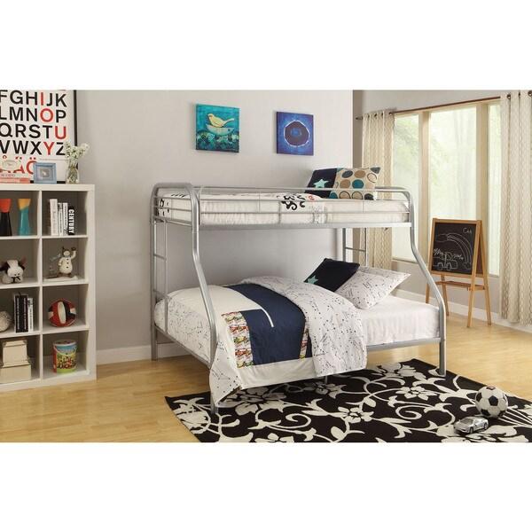 Tritan Silver Metal Twin XL/Queen Bunk Bed