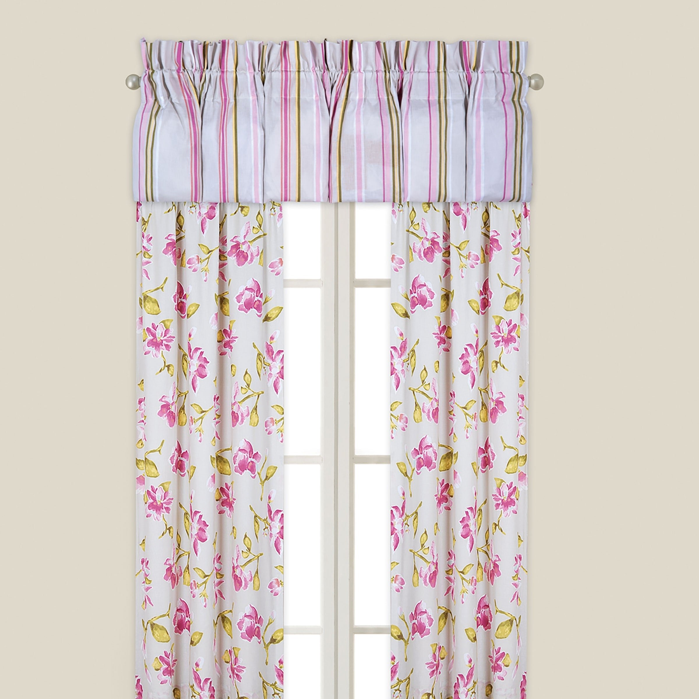 Enterprises Liliann Multicolored Cotton and 50-inch x 84-...