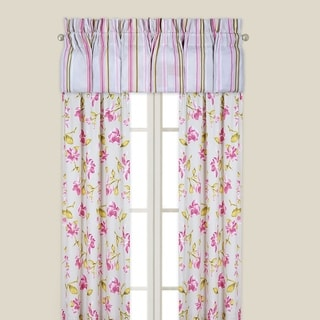 Liliann Multicolored Cotton and 50-inch x 84-inch Floral Drapery Curtain Panel