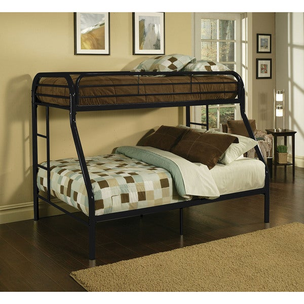 Tritan black metal twin xl queen bunk bed free shipping Black bunk beds