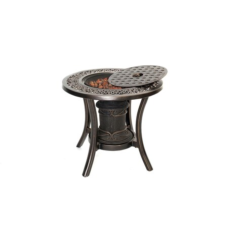 Hanover Outdoor TRADFIREURN 10,000 BTU Fire Pit Side Table