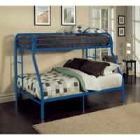 Tritan Blue Metal Twin XL over Queen Bunk Bed
