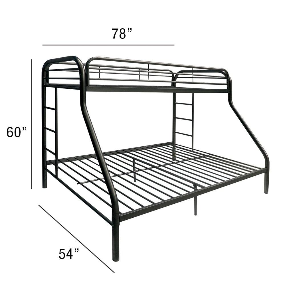 Shop Tritan Black Metal Twin Over Full Bunk Bed Overstock 12036900