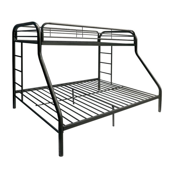 Tritan Black Metal Twin Over Full Bunk Bed