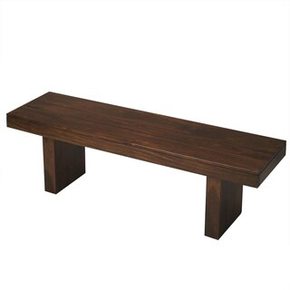 Butler Hewett Brown Wood Bench