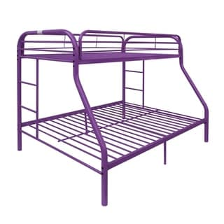 Tritan Purple Metal Twin/Full Bunk Bed