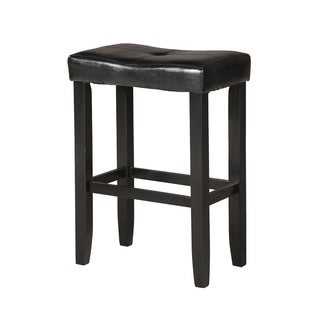 Micha Black Wood/Polyurethane Bar Stool (Set of 2)