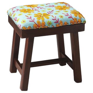 Butler Claudia Cotton Upholstered Stool