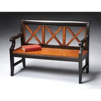 Butler Gerrit Cherry Transitional Bench