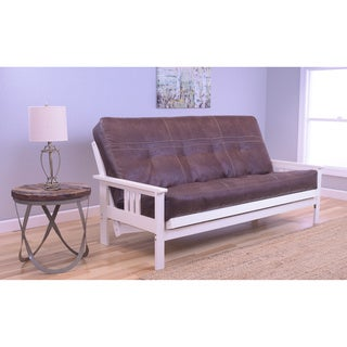 Somette Beli Mont Brown Wood Futon