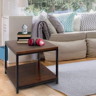 Carbon Loft Cohn Mocha Solid Wood End Table