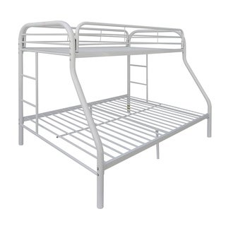 Tritan White Metal Twin-over-full Bunk Bed