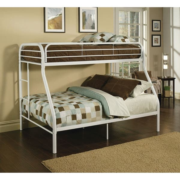 Tritan White Metal Twin Over Full Bunk Bed Overstock 12037034