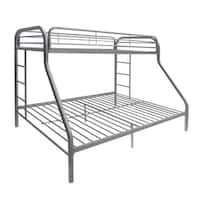 Tritan Silver Metal Twin/Full Bunk Bed
