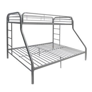 Tritan Silver Metal Twin/Full Bunk Bed